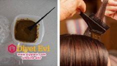 Doğal saç boyası kahve ile saç boyamak