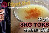 10 günde 8 kilo toksin attıran detoks nasıl yapılır