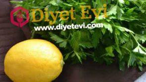 Zayıflayan Maydanoz limon kürü