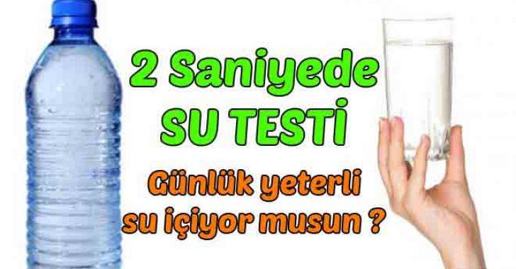Yeteri kadar su içiyor musunuz? 2 saniyede test edin!