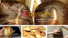 Saç beyazlamasına Patetes kabuğu