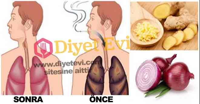 Sigara içenler ve yeni bırakanlar için akciğer temizleme kürü Yaklaşık 700 den fazla kimyasal madde ile üretilen sigaranın ortalama 600 den fazla zararı vardır. Paketlerin üzerinde en dikkat çekici uyarılar yapılmasına rağmen insanlar sigara içmeye devam ediyor. Daha önemlisi pasif içici olarak adlandırılan sigara dumanına maruz kalınması durumu, sigara içilen ortamlarda bulunmak akciğer sağlığımızı ciddi anlamda tehdit ediyor. Size sigara dumanında bulunan zehirli maddelerden biraz bahsetmek istiyoruz, Devam etmek için görsele tıklayın ve 2. fotoğrafa geçin.