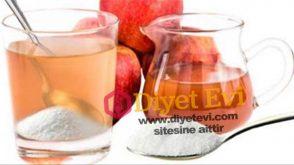 Zayıflatan elma sirkesi karbonat karışımı