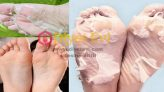 Toz şeker maskesi ile doğal el ayak bakımı